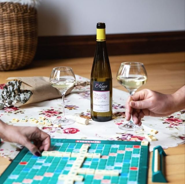 Friday night = game night. #DrinkAlsace ⠀ -⠀ 📸 @vinsalsaceqc⠀ -⠀ -⠀ -⠀ -⠀ #WinesofAlsace #Alsacewine #Alsace #Frenchwine #WinesofFrance #Friday #Fridaynight #TGIF #boardgame #gamenight #whitewine #gewuztraminer #repost #reshare #games #game #welovewine #winelover #winelovers #weloveAlsace #friyay #weekend #scrabble #fridaymood #fridayfeeling #fridayvibes #boardgamenight #winestagram #winenight
