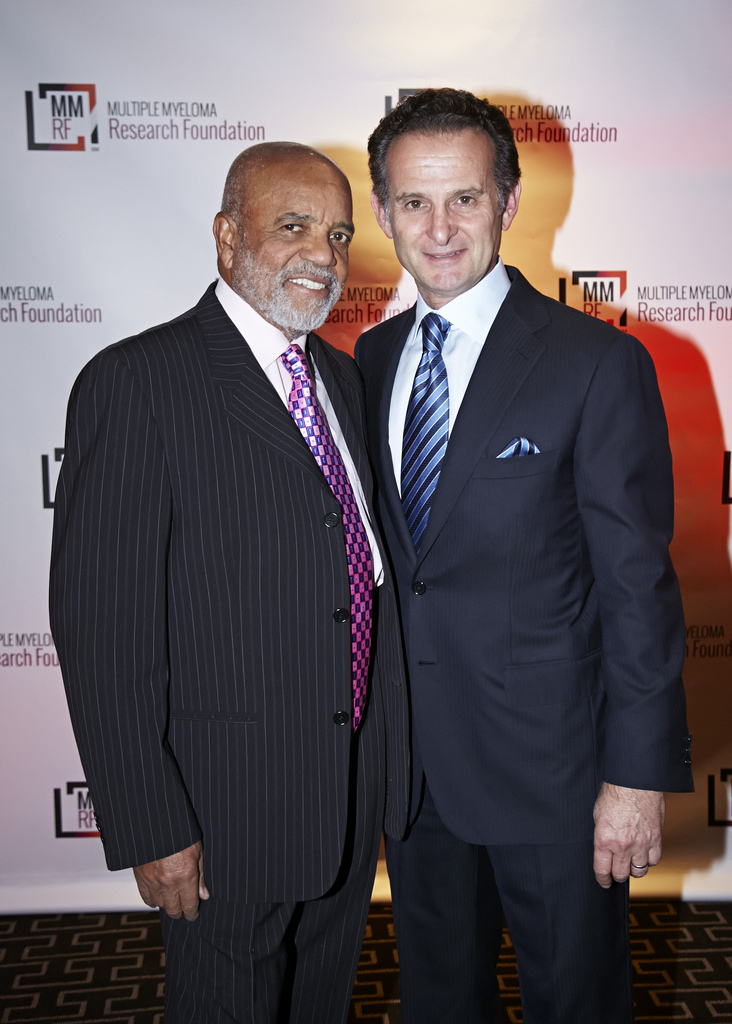 With Berry Gordy at MMRF 2013 Gala