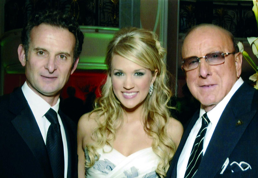 With Carrie Underwood & Clive Davis