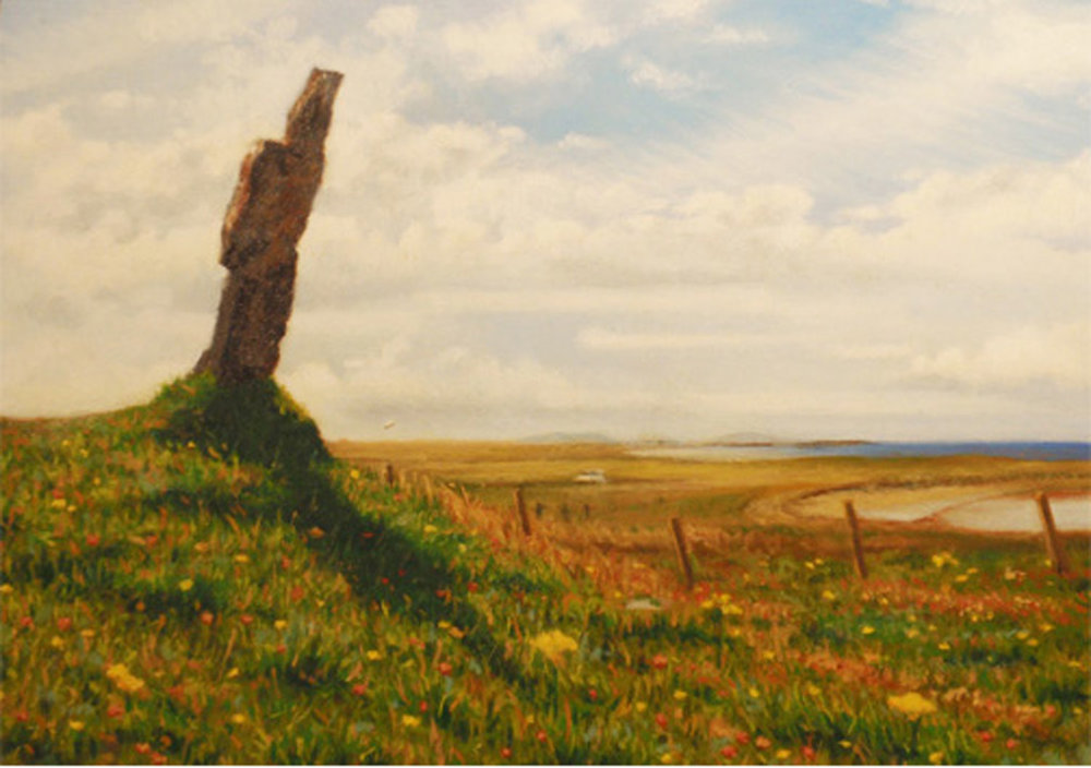 """Standing Stone Near St. Michael's Cemetery""   Oil  5"" x 7"""