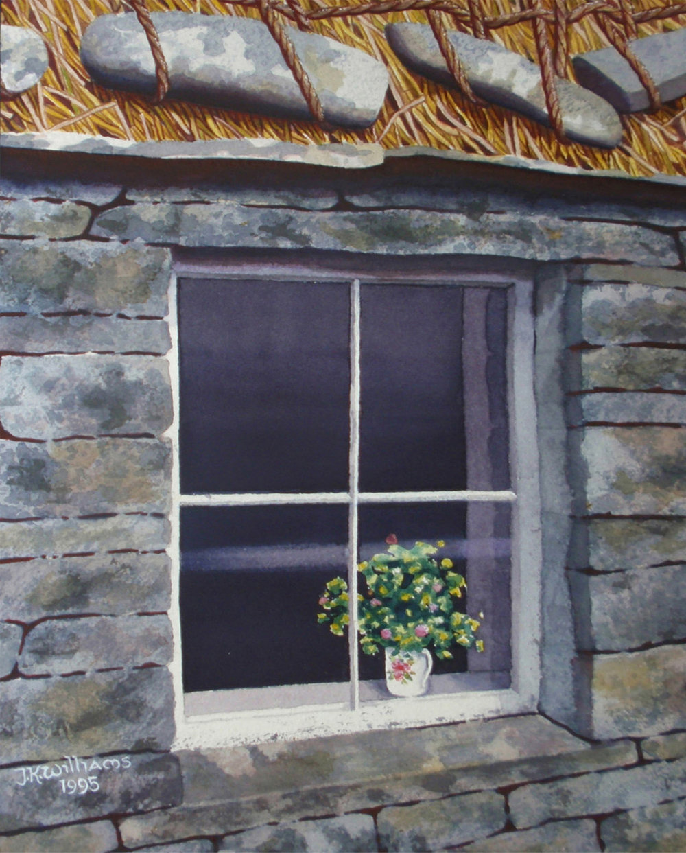 """Croft House Window""   Watercolor  14 1/2""  x 11 1/4"""
