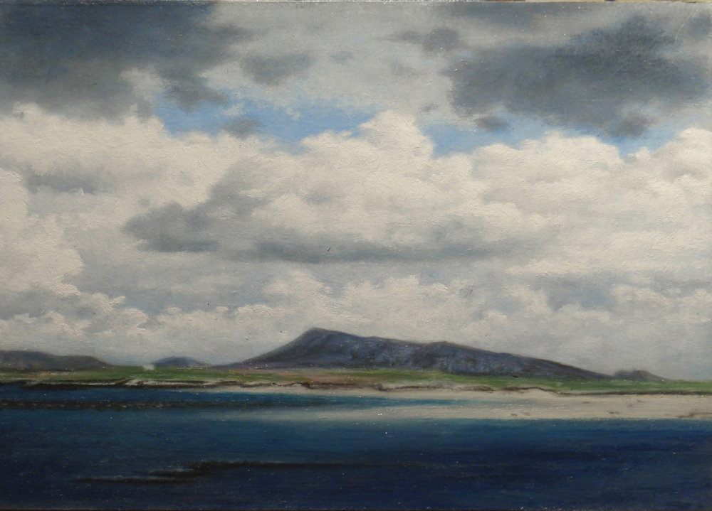 """Ben Eaval, Cloudy Day""  Oil 5"" x 7"""