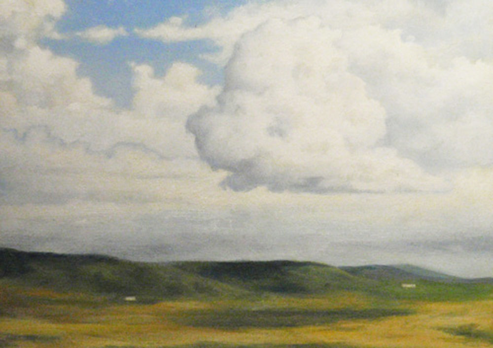 """   Clouds, South Uist""   Oil  5"" x 7"""