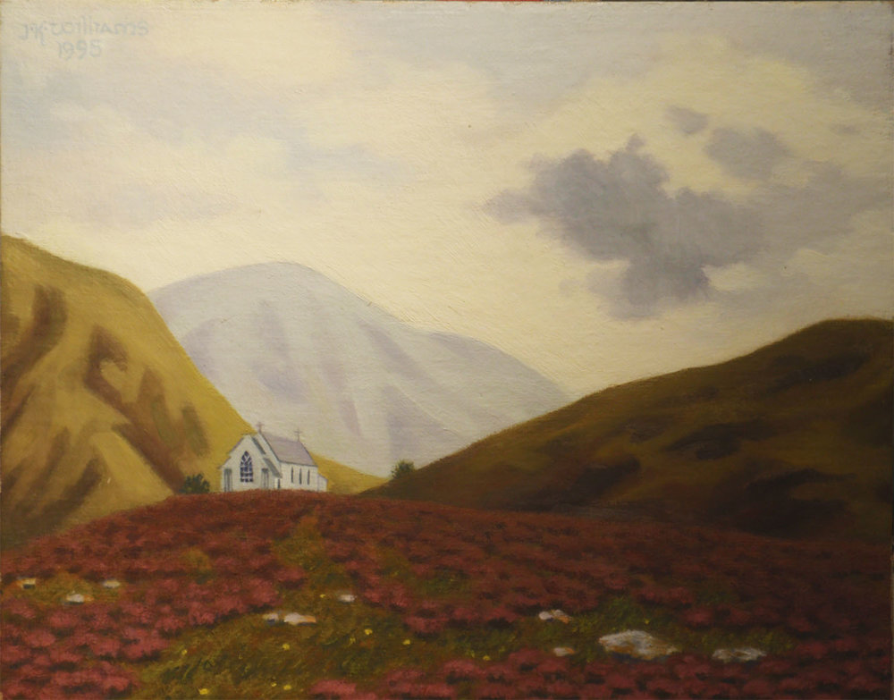 """Highland Church, Evening""   Oil  8"" x 10"""