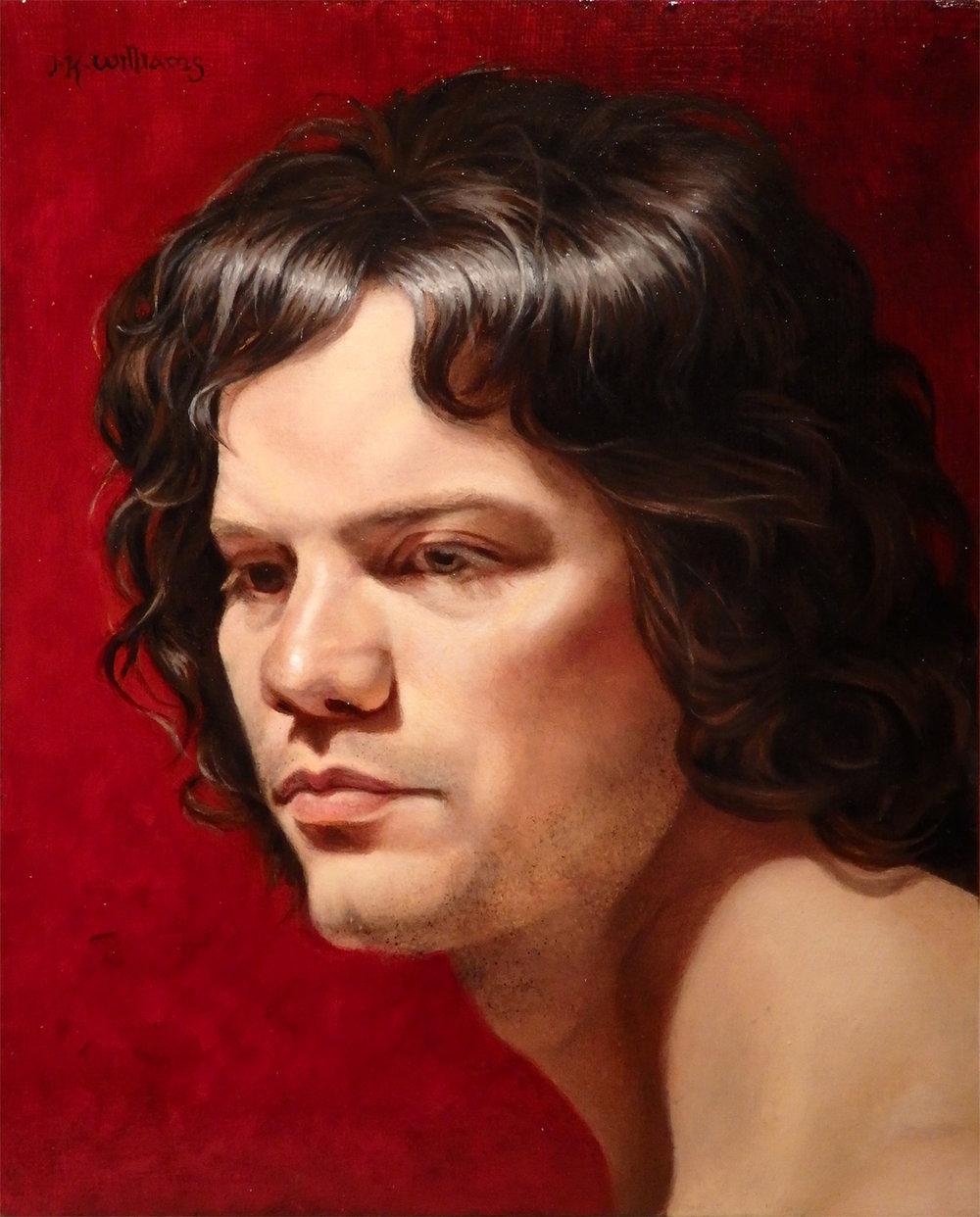 """""""Caravaggio Boy""""  Oil 10"""" x 8"""""""