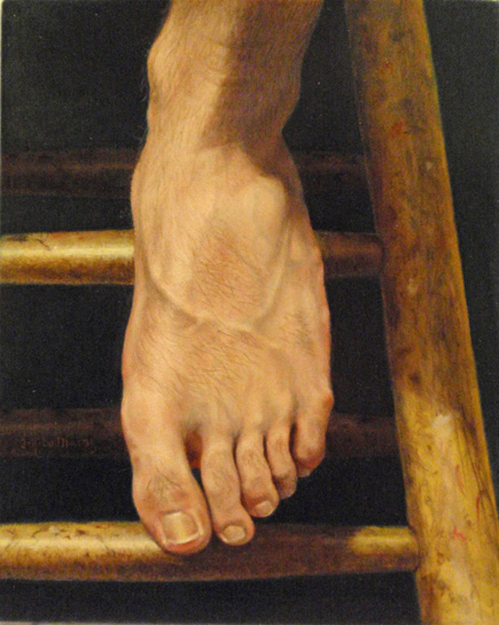 """Tom's Foot""   Oil  10"" x 8"""