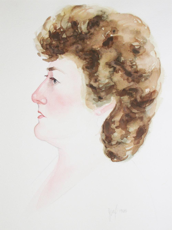 """""""Portrait of Suzanne""""  Watercolor          x"""