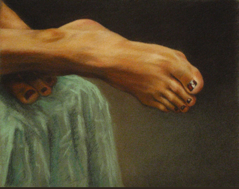 """Woman's Foot""   Pastel, conté, charcoal     x"