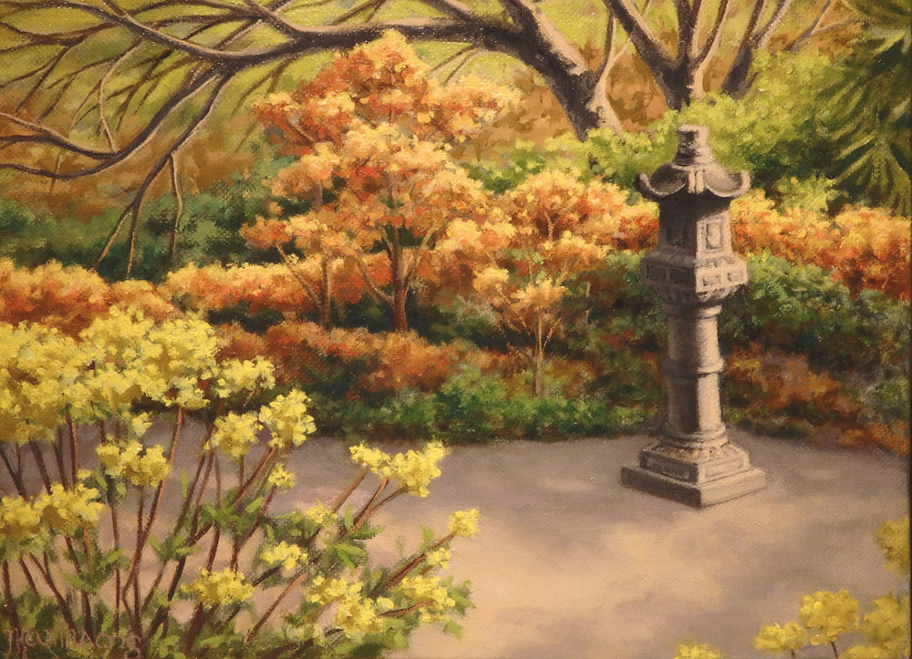 """Japanese Lantern""  Oil 6""x 8 1/16"""
