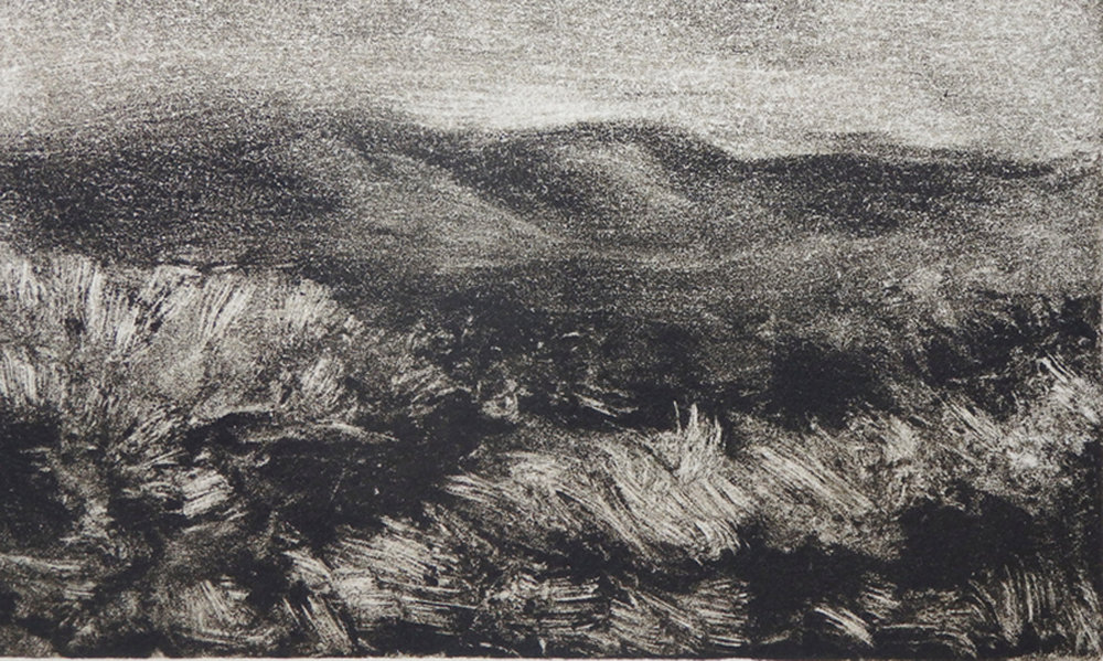 """""""After Sunset""""  Monotype 2 3/4"""" x 4 3/4"""""""