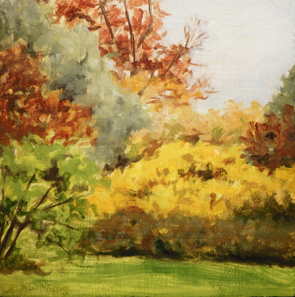 """Autumn Sketch""  Oil 4""x 4"""