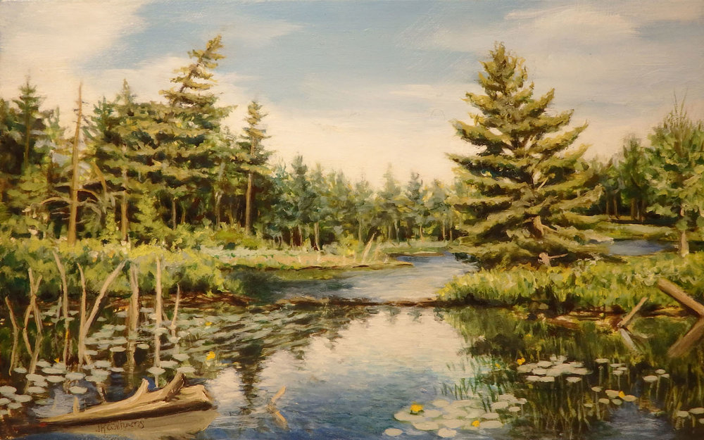 """Adirondack Swamp""  Oil 4 1/2""x 6 5/8"""