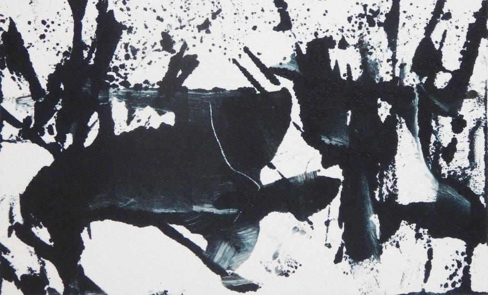 """Tyger, Tyger""  Monotype 3 15/16 x 6"""