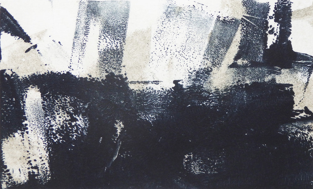 """Manhattan Tragedy""   Monotype  2 7/8"" x 4 7/8"""