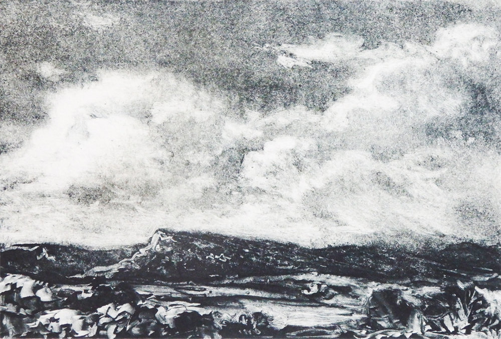 """""""Wyoming Afternoon""""    Monotype"""