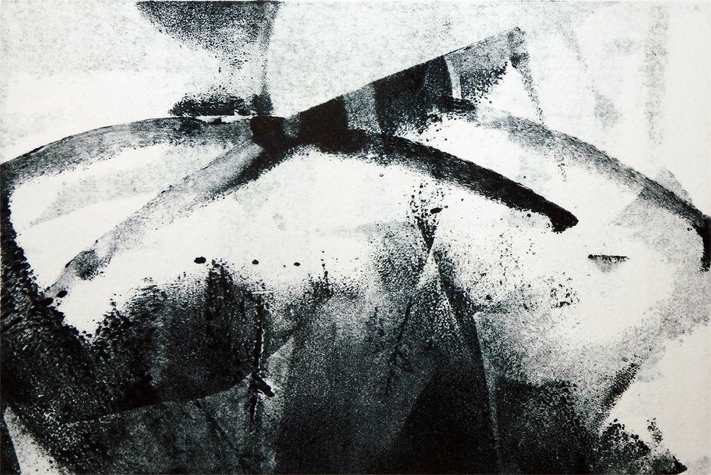 """Lily Pond""   Monotype  3 7/8"" x 6"""