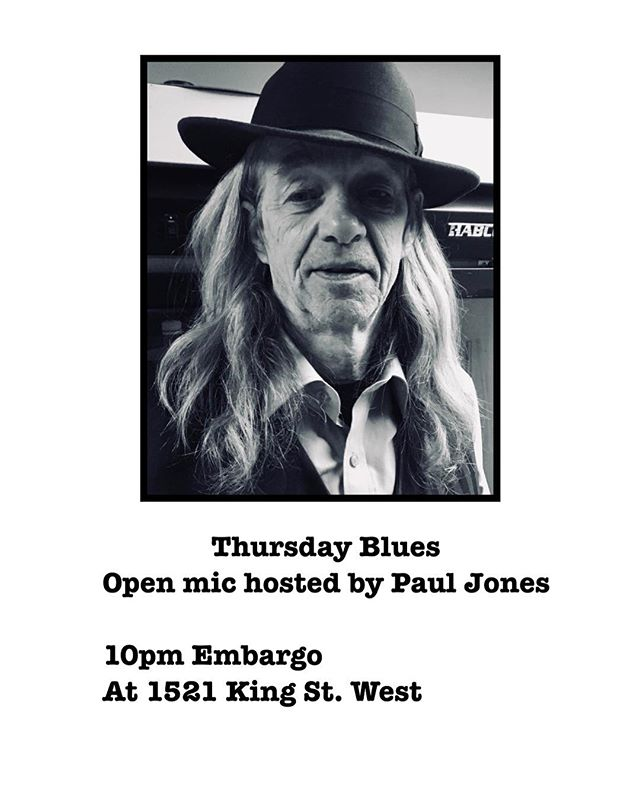 Paul Jones sings the Blues at 10pm next week Thursday! Come bring a pal or two.