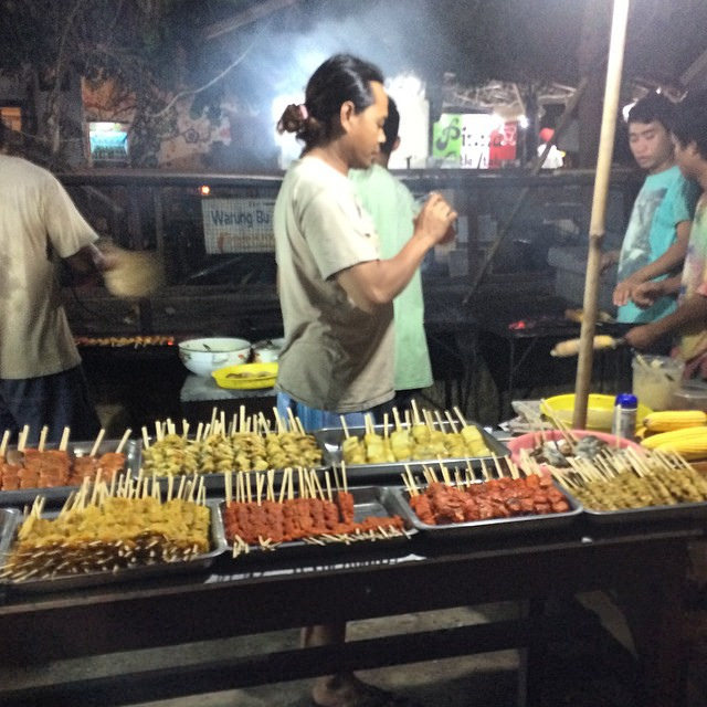 Food market in the Gili Islands.