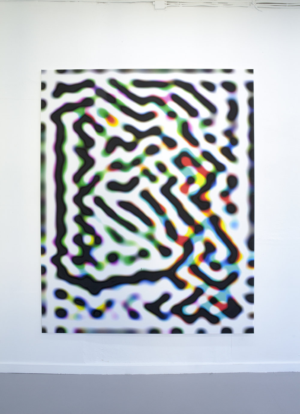 Test Your Stupidity, 145 x 180, inkjet print, pigment, kasein.