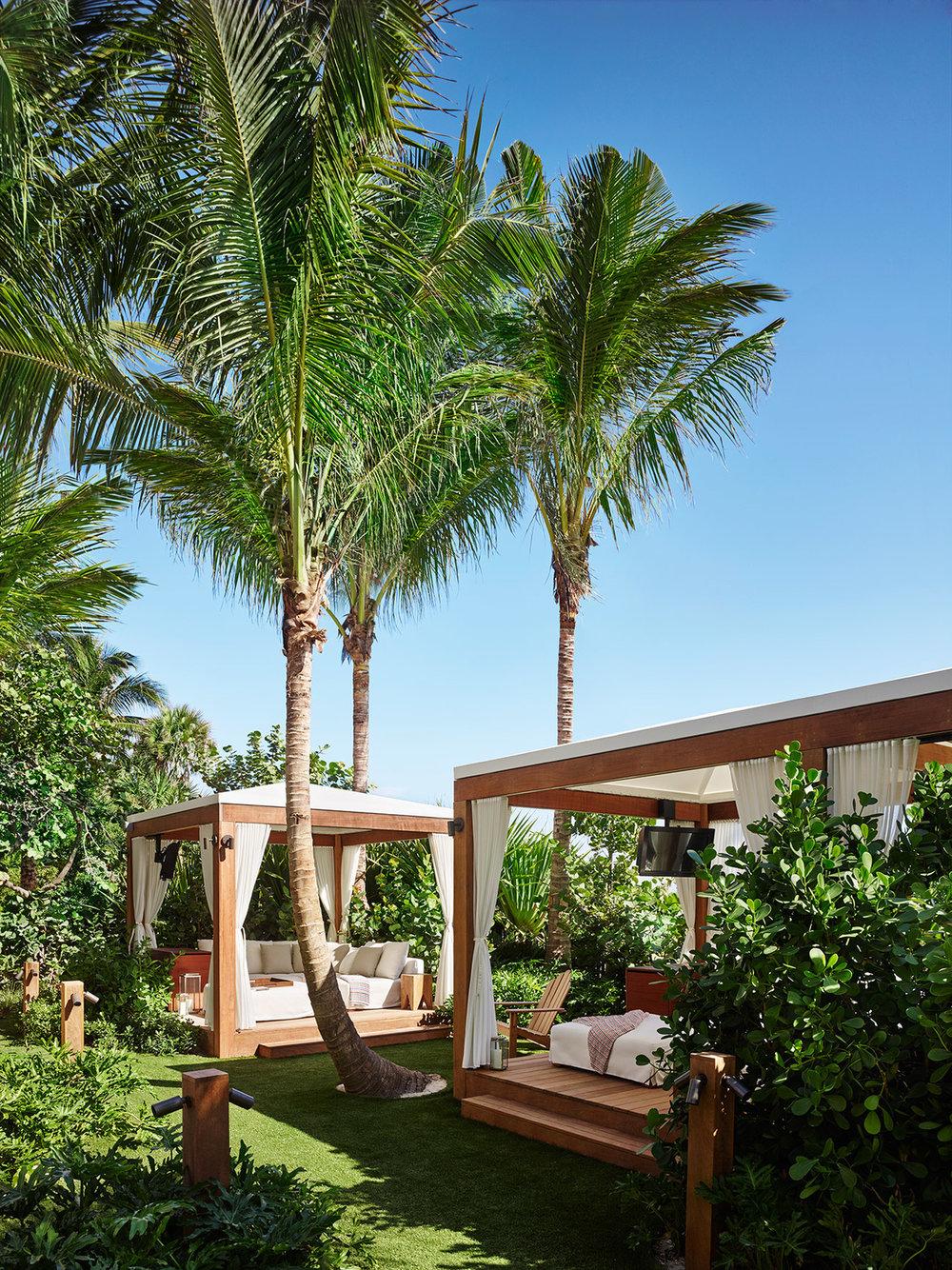 Cabanas. Courtesy of the Miami Beach EDITION.