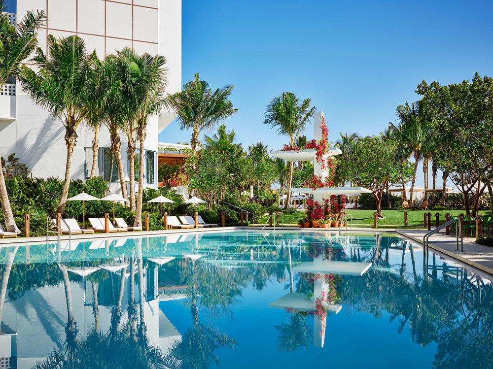 Main Pool. Courtesy of The Miami Beach EDITION.