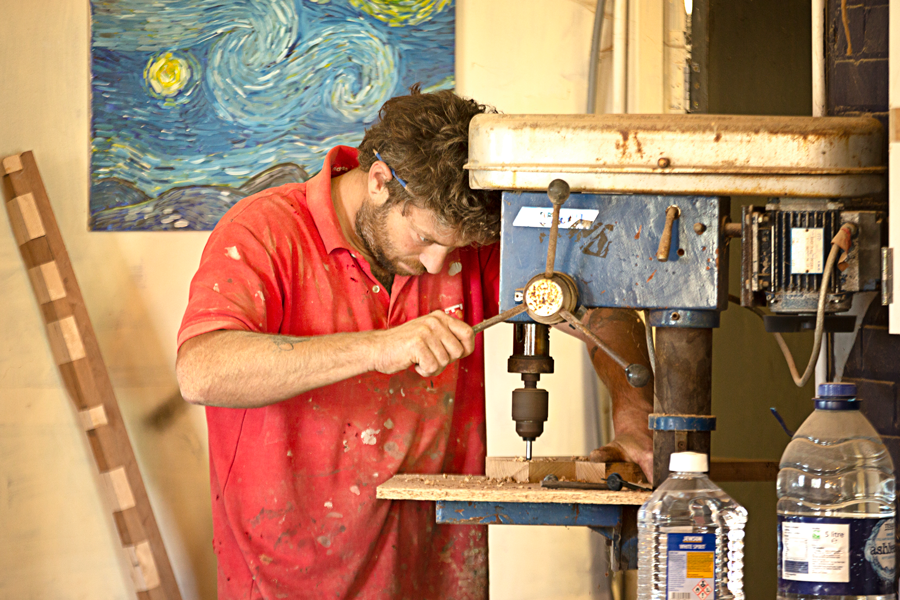 Adi Arad - Carpenter and Furniture makerAdi Arad meet Cobus in early 2017 when he moved to Oxford and now shares the aARTvark workshop space in Culham. Adi has his own business in Oxford called Adi Arad Woodworking.