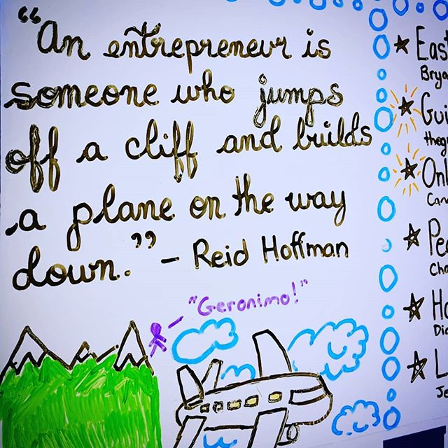 At #MBObusiness, we're all about encouraging people to jump off cliffs! Of course, we also give them the financing to purchase plane parts... and then teach them how to fly the plane long before they hit the ground! 😁⛰️✈️ #MBOC #Door2Opportunity #StartOrGrow #Entrepreneurship #Entrepreneur #SmallBusiness #SmallBiz #BusinessDevelopment #BusinessDevelopment #BusinessLoan #Quote #ReidHoffman #Risk #YYT #709 #StJohns #MountPearl #NewfoundlandLabrador
