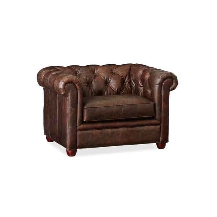 CHESTERFIELD ARM CHAIR - CHOCOLATE