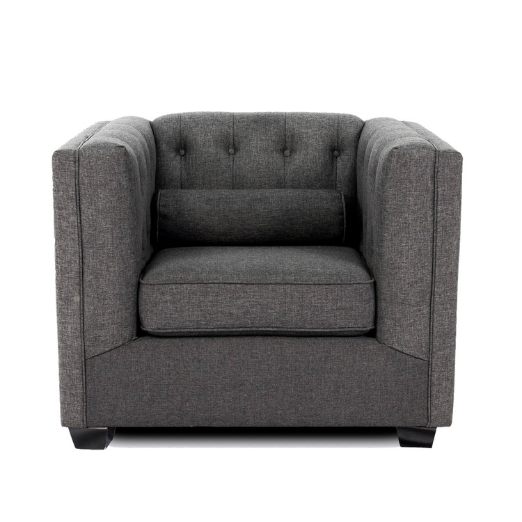 GRACE ARM CHAIR - CHARCOAL