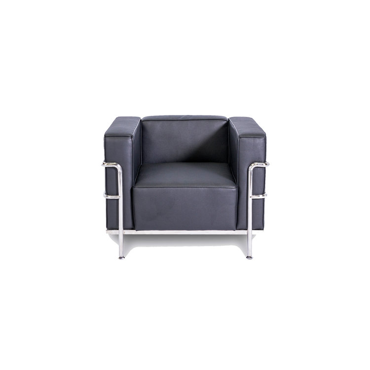CORBUSIER ARM CHAIR - BLACK