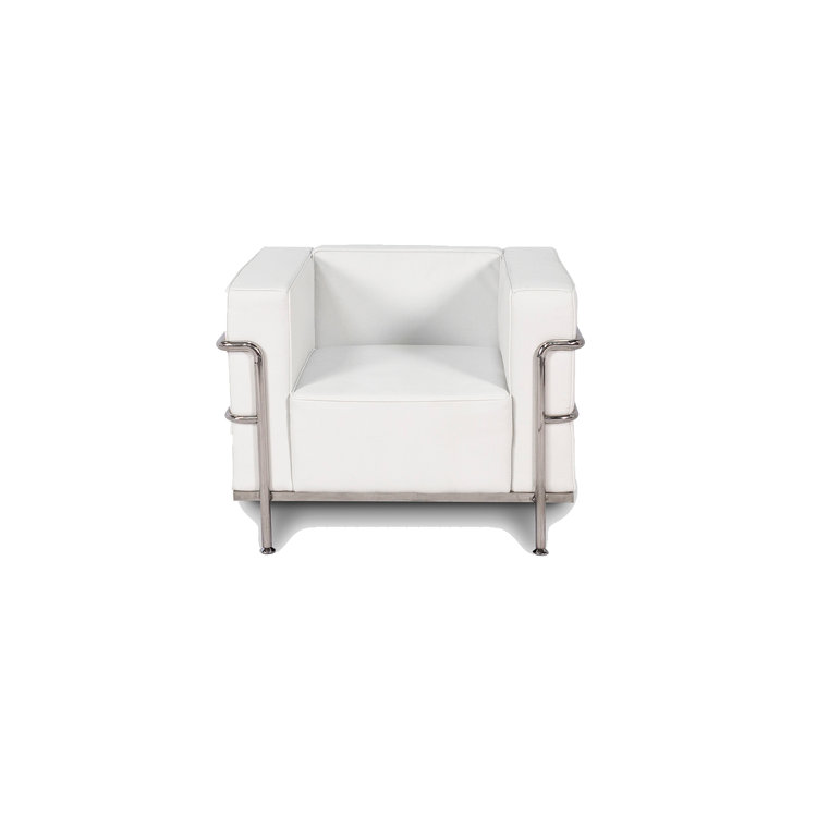 CORBUSIER ARM CHAIR - WHITE