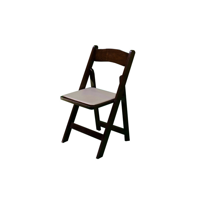 WALNUT FOLDING CHAIR