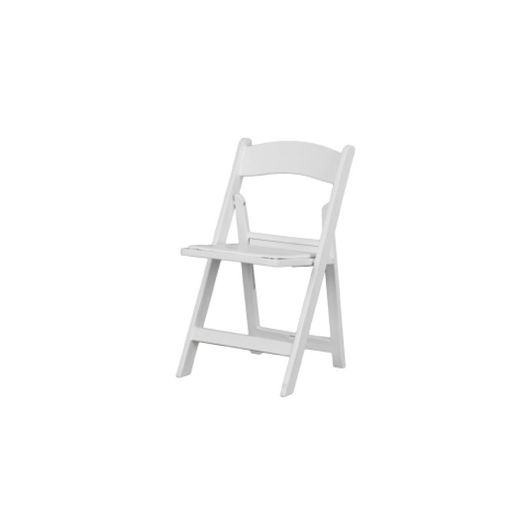 RESIN FOLDING CHAIR - WHITE