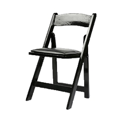 WOOD FOLDING CHAIR - BLACK