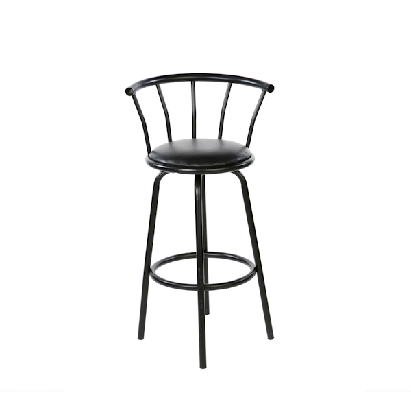 SWIVEL BARSTOOL - BLACK