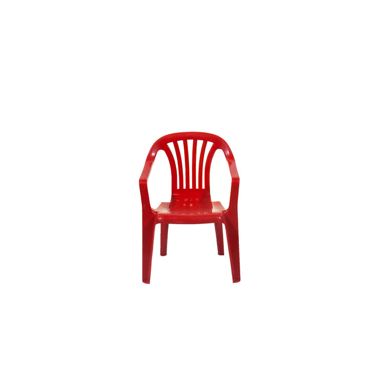 PLASTIC CHILDREN'S CHAIR- RED