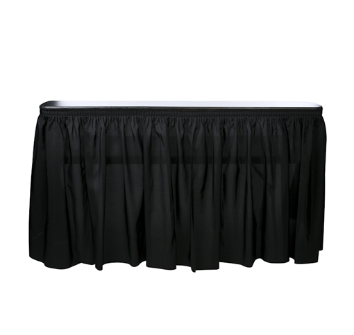 6' SKIRTED BAR - BLACK