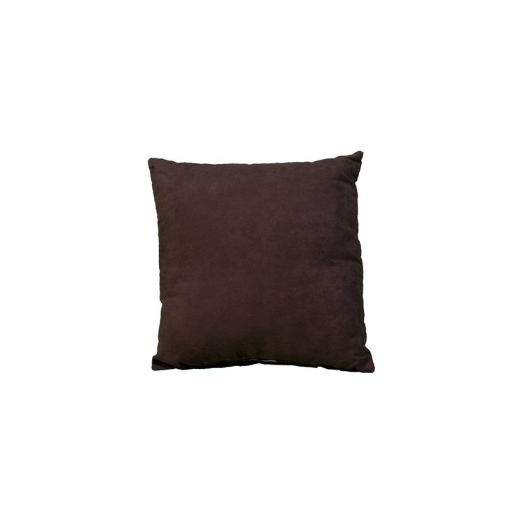 "PLUSH BROWN 16"" SQ"