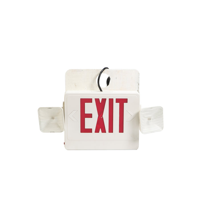BATTERY BACK-UP EXIT SIGN