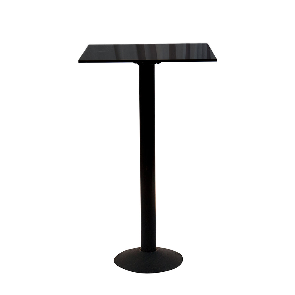 BLACK ACRYLIC COCKTAIL TABLE