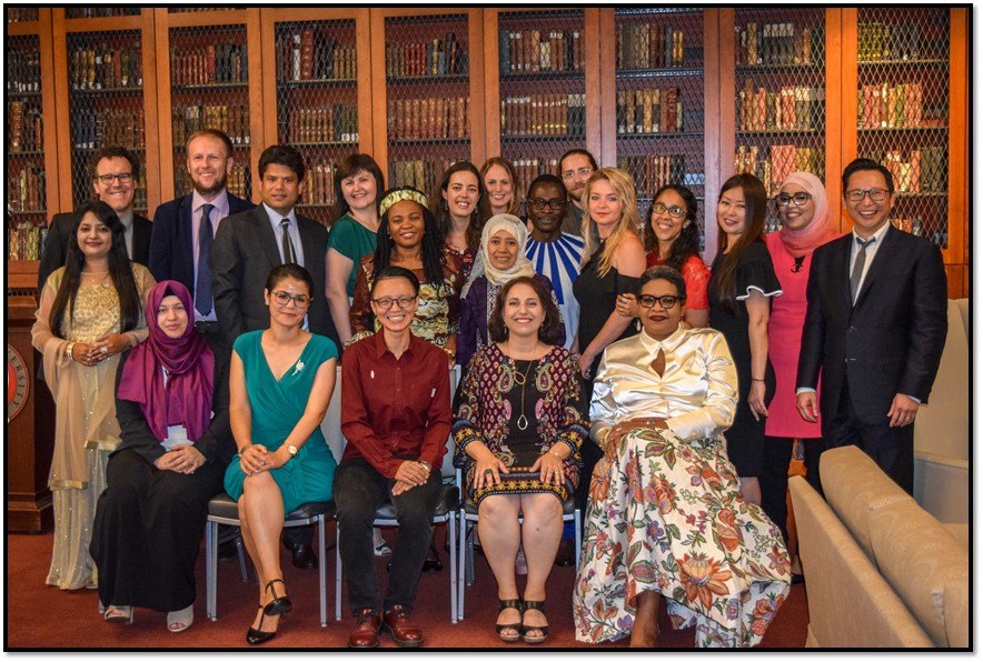 The participants from the Study of the U.S. Institute (SUSI) for Scholars on Contemporary American Literature at Seattle University this August. (Photo by Charles Tung)