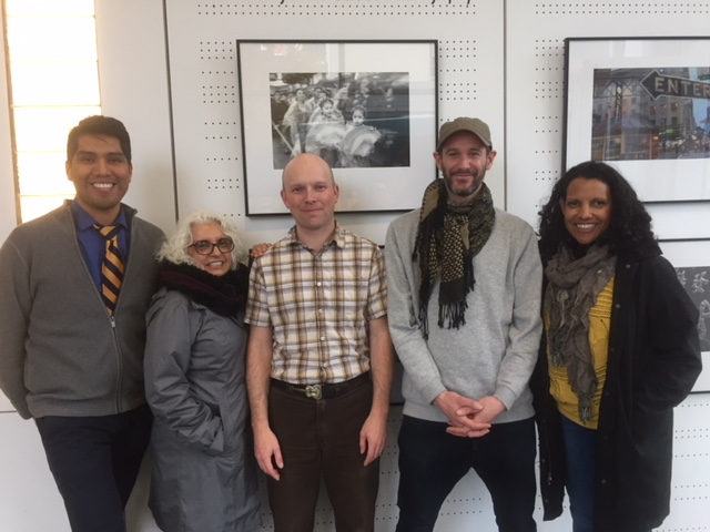 Maori writer Nic Low with Jack Straw writers, October 2017. From left: D.A. Navoti, Catalina Cantú, Levi Fuller, Nic Low, Jamaica Baldwin