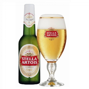 STELLA ARTOIS   5.2% abv   The world's best Belgian beer, enjoyed in over 80 countires. Its high quality is assured through a brewing process that spares no expense. It is brewed with traditional malted barley & fine hops to acheive a natural elegant & refined beer.