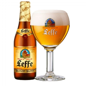 LEFFE BLOND   6.6% abv   This dry, fruity beer has quite a full and creamy taste with a subtle clove aroma. It could well be considered a beer from heaven, tracing its origins back to the Abbey Notre Dame de Leffe founded in 1152.