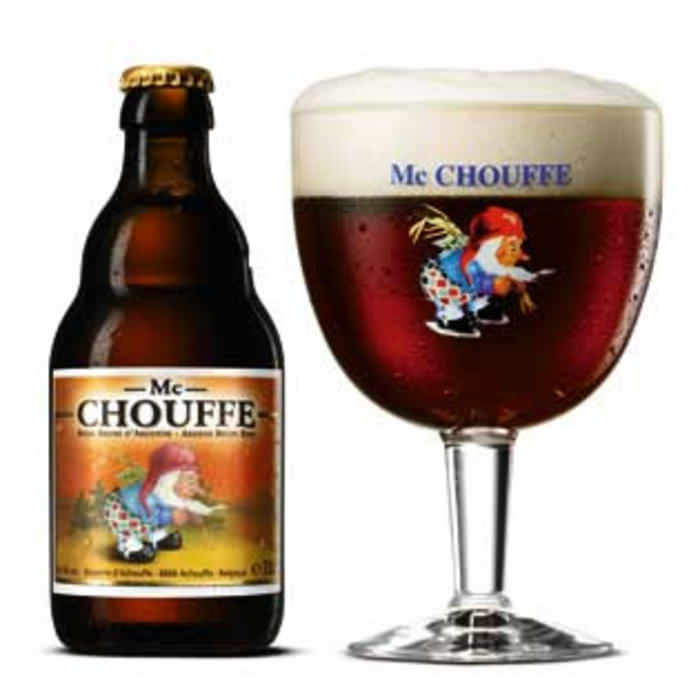 MC CHOUFFE   8.0% abv   Deep mahogany in colour with a soft tan head. Tastes similar to its aroma, with dark fruits, caramel, spices & a little hop bitterness.