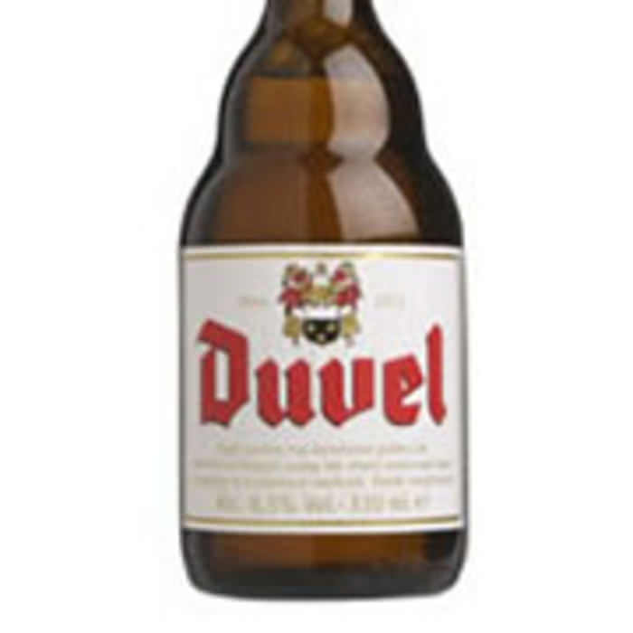 DUVEL   8.5% abv   Duvel has a strong, dry, bitter flavour and a powerful aroma with just a hint of apples. Whipped up early last century, on first tasting it was described as a 'real devil', hence its name.