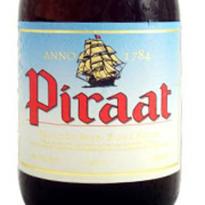 PIRAAT   10.5% abv   This light amber coloured Piraat with full foam head overwhelms with the aroma of bitter spicy, malty and alchoholic scents. What follows is a perfect combination of malty, sweet and hop bitter tastes, after which you are drowned in a very long, semi-sweet after taste with bitter undertone.