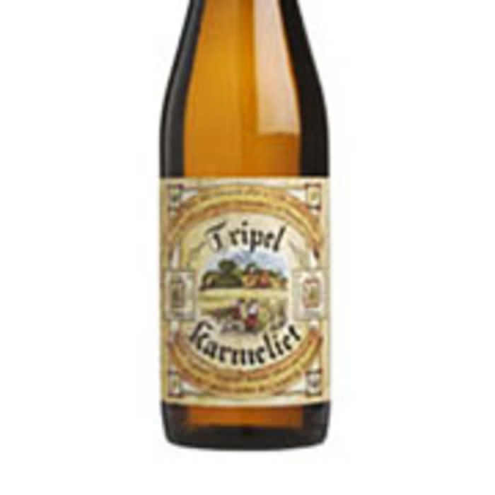 TRIPEL KARMELIET   8.0% abv   A golden brown brew, served with a huge creamy head. Vanilla blends with an orangey hop aroma and a wheaty light crispness. It also boasts an oaty creamy and a spicy, lemony, almost subtle dryness.
