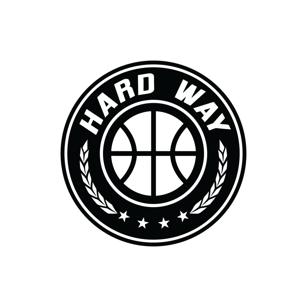 """The logo describes our basketball program. Everything worth having in life is worth attaining the """" Hard Way """". The 4 stars represent what we do; learn, give, play, live. The leaves represent the arms that wrap around our family. The ball needs no explanation."""