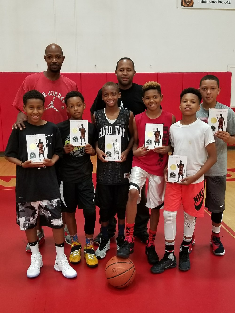 Literacy and education is the goal, utilizing sports is just one vehicle. Our 5th grade boys were required to read independently and answer written questions accordingly, making books and basketball work hand in hand.